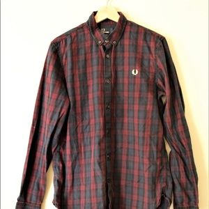 Fred Perry Mens Medium Button Down